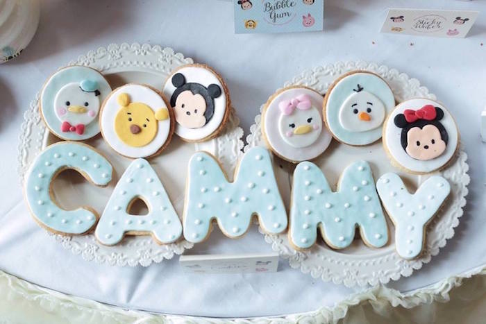 Cookies from a Disney's Tsum Tsum Inspired Birthday Party via Kara's Party Ideas | KarasPartyIdeas.com | The Place for All Things Party! (4)