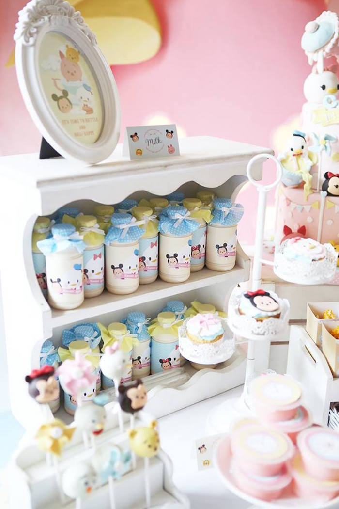 Karas Party Ideas Drinks Sweets Decor from a Disneys Tsum