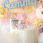 Party Display from a Disney's Tsum Tsum Inspired Birthday Party via Kara's Party Ideas | KarasPartyIdeas.com | The Place for All Things Party! (1)