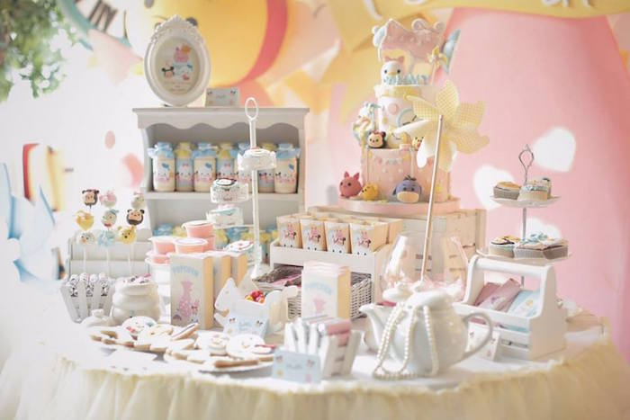 Dessert Table from a Disney's Tsum Tsum Inspired Birthday Party via Kara's Party Ideas | KarasPartyIdeas.com | The Place for All Things Party! (21)