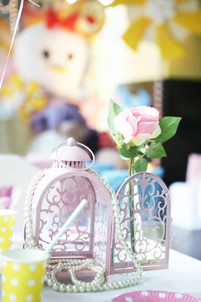 Karas Party Ideas Disneys Tsum Tsum Inspired Birthday Party - Birthday party table centerpiece ideas