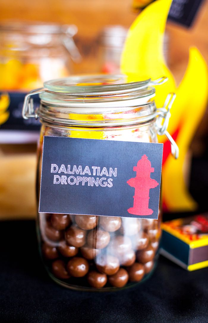 Dalmatian Droppings + Chocolate Wafers from a Fireman Birthday Party via Kara's Party Ideas | KarasPartyIdeas.com (6)