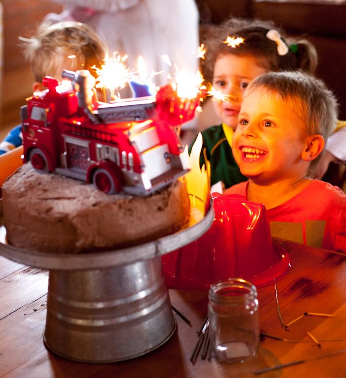 Cake Time from a Fireman Birthday Party via Kara's Party Ideas   KarasPartyIdeas.com (2)