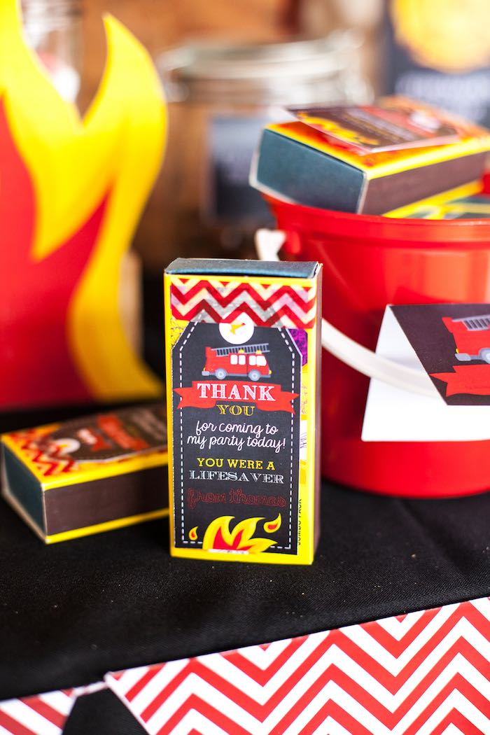 Favors from a Fireman Birthday Party via Kara's Party Ideas | KarasPartyIdeas.com (11)