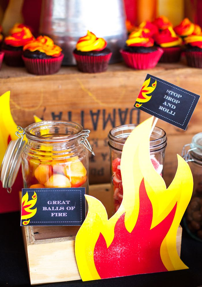 Candy from a Fireman Birthday Party via Kara's Party Ideas | KarasPartyIdeas.com (10)