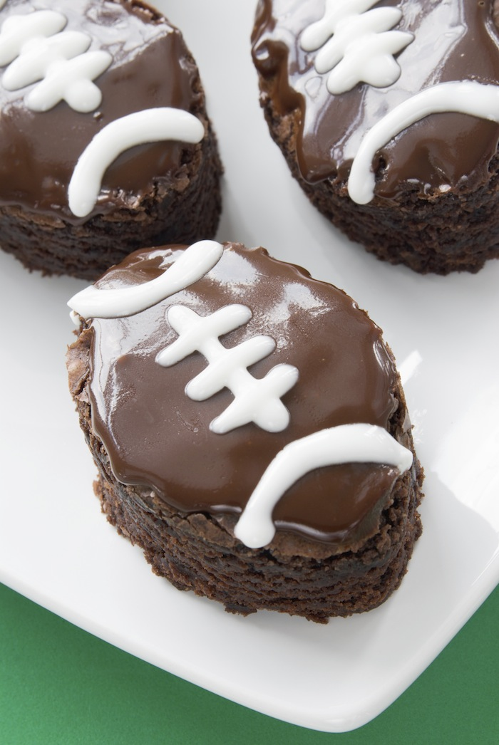 Football brownies recipe via Kara's Party Ideas for your big football game party! Kara Allen | KarasPartyIdeas.com
