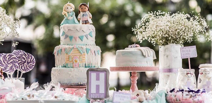 Sweet Table from a Frozen + Doc McStuffins Birthday Party via Kara's Party Ideas KarasPartyIdeas.com (1)