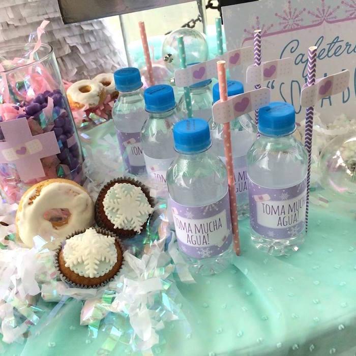 kara s party ideas water bottles from a frozen doc