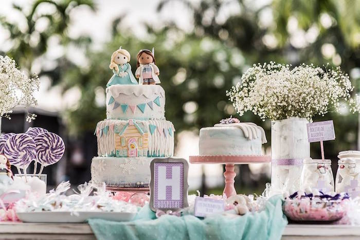 Sweet Table from a Frozen + Doc McStuffins Birthday Party via Kara's Party Ideas KarasPartyIdeas.com (14)