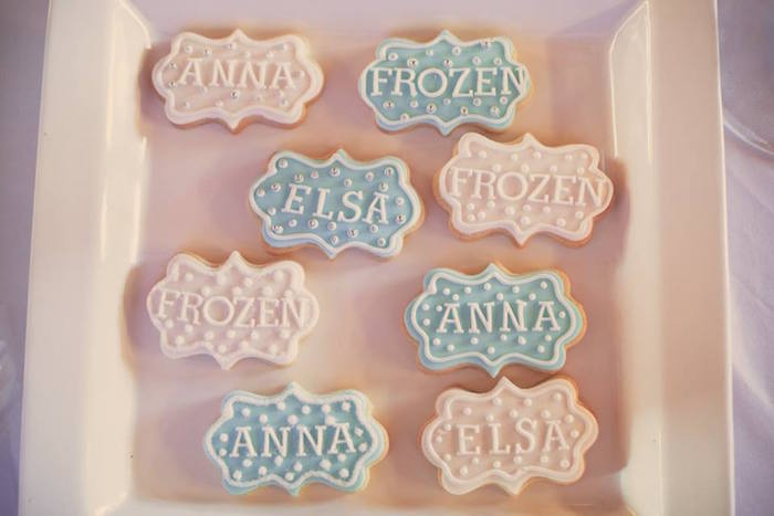 Cookies from a Frozen Inspired Birthday Party via Kara's Party Ideas | KarasPartyIdeas.com | The Place for All Things Party! (12)