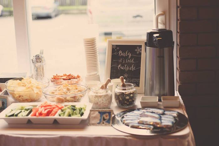 Snack + Hot Cocoa Bar from a Frozen Inspired Birthday Party via Kara's Party Ideas | KarasPartyIdeas.com | The Place for All Things Party! (9)