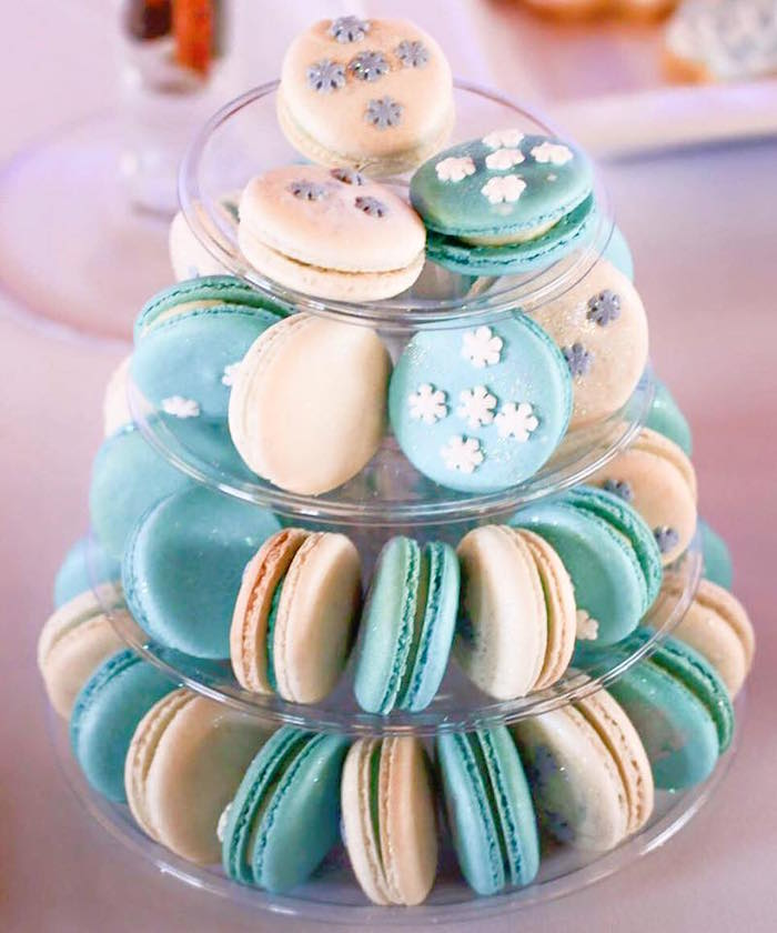 Macarons from a Frozen Inspired Birthday Party via Kara's Party Ideas | KarasPartyIdeas.com | The Place for All Things Party! (4)