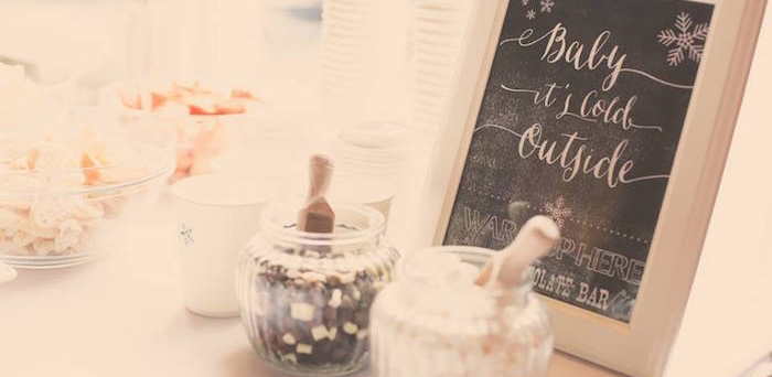 Hot Cocoa Bar from a Frozen Inspired Birthday Party via Kara's Party Ideas | KarasPartyIdeas.com | The Place for All Things Party! (1)