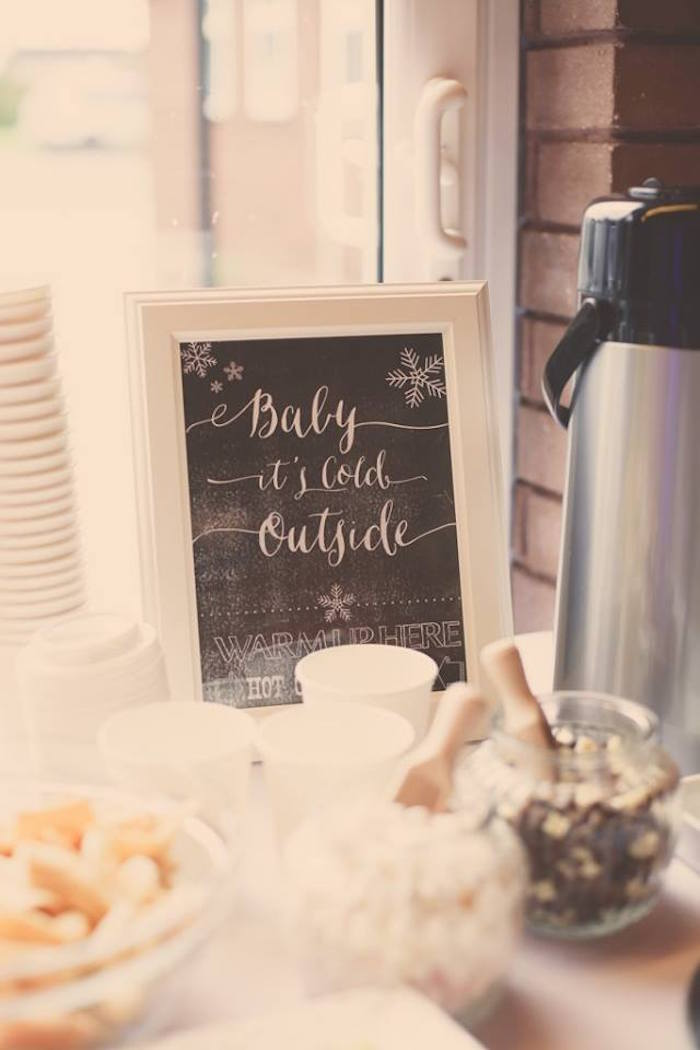 Hot Cocoa Bar from a Frozen Inspired Birthday Party via Kara's Party Ideas | KarasPartyIdeas.com | The Place for All Things Party! (21)