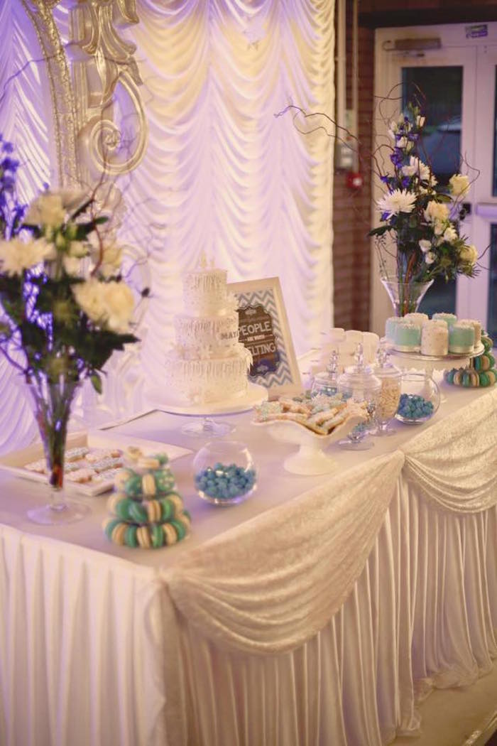 Dessert Table from a Frozen Inspired Birthday Party via Kara's Party Ideas | KarasPartyIdeas.com | The Place for All Things Party! (20)