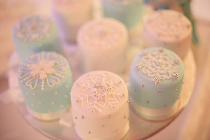 Mini Cakes from a Frozen Inspired Birthday Party via Kara's Party Ideas | KarasPartyIdeas.com | The Place for All Things Party! (17)