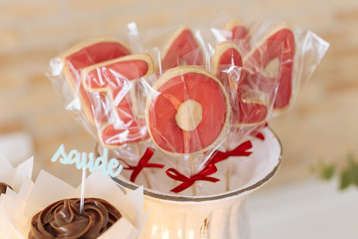 Letter Cookies on Sticks from a Fruit Stand Birthday Party via Kara's Party Ideas | KarasPartyIdeas.com (14)