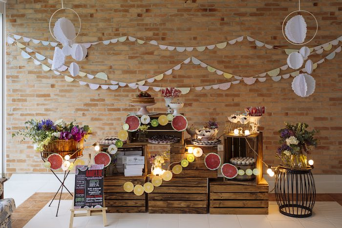 Setup from a Fruit Stand Birthday Party via Kara's Party Ideas | KarasPartyIdeas.com (7)