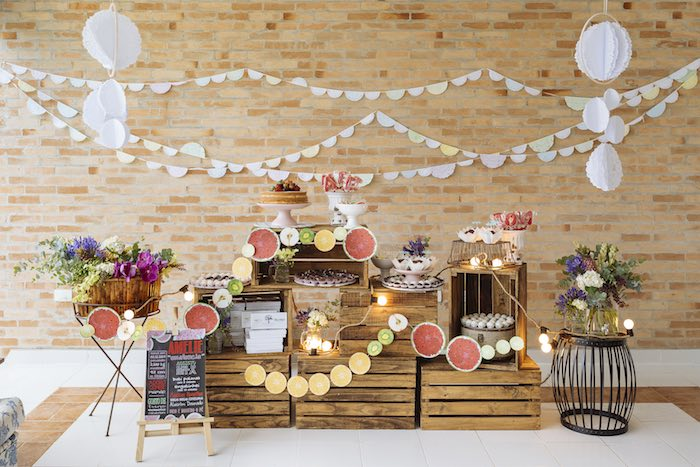 Party Display from a Fruit Stand Birthday Party via Kara's Party Ideas | KarasPartyIdeas.com (23)