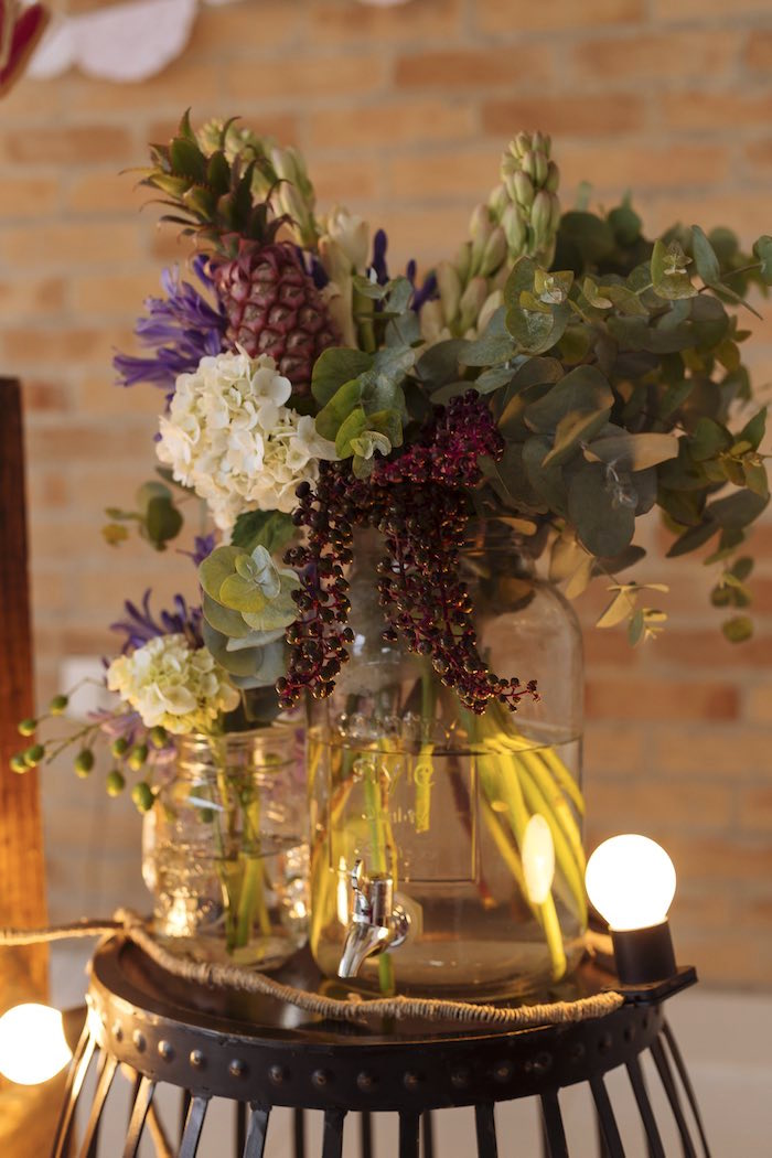Floral Arrangements from a Fruit Stand Birthday Party via Kara's Party Ideas | KarasPartyIdeas.com (4)