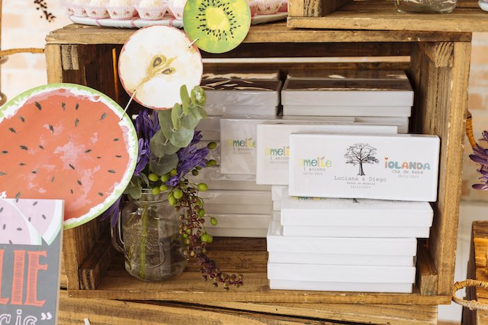 Favors Boxes from a Fruit Stand Birthday Party via Kara's Party Ideas | KarasPartyIdeas.com (20)