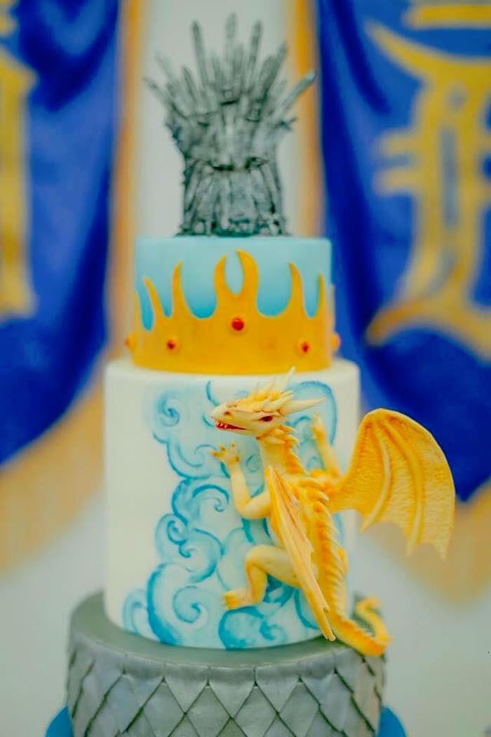 Cake Detail from a Cake from a Game of Thrones Birthday Party via Kara's Party Ideas | KarasPartyIdeas.com (9)
