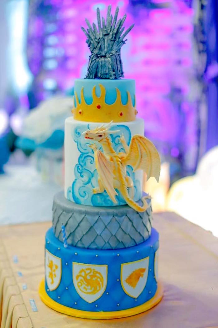 Cake from a Game of Thrones Birthday Party via Kara's Party Ideas | KarasPartyIdeas.com (8)