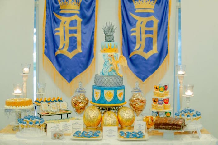 Dessert Table from a Game of Thrones Birthday Party via Kara's Party Ideas | KarasPartyIdeas.com (7)