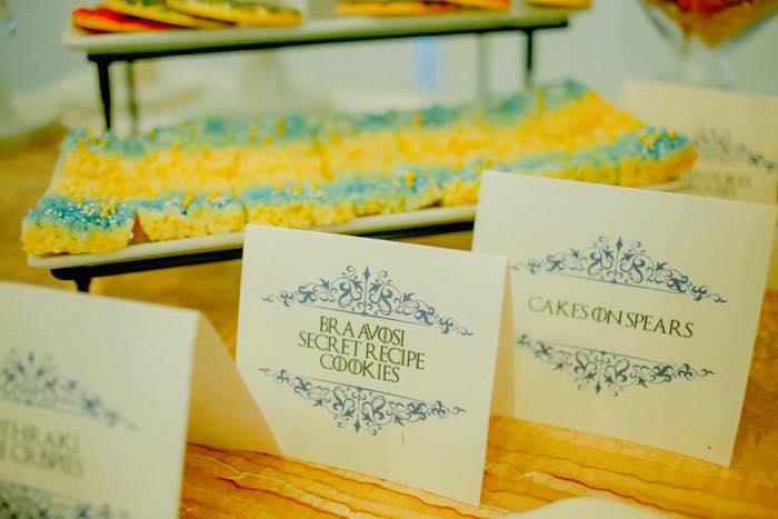 Dothraki Rice Krispie Treats from a Game of Thrones Birthday Party via Kara's Party Ideas   KarasPartyIdeas.com (6)