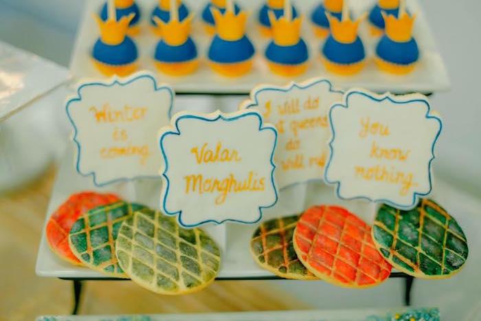 Sugar Cookies from a Game of Thrones Birthday Party via Kara's Party Ideas   KarasPartyIdeas.com (5)