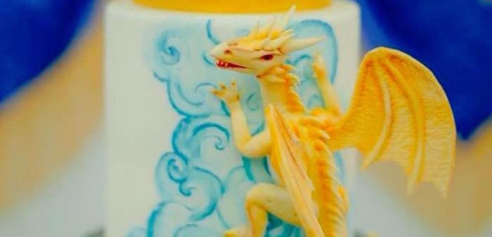 Edible Dragon from a Game of Thrones Birthday Party via Kara's Party Ideas | KarasPartyIdeas.com (1)