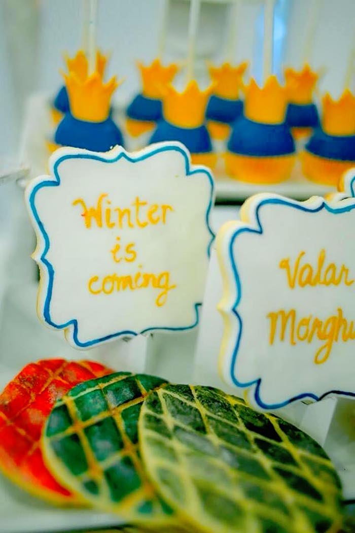 Cookies from a Game of Thrones Birthday Party via Kara's Party Ideas   KarasPartyIdeas.com (17)