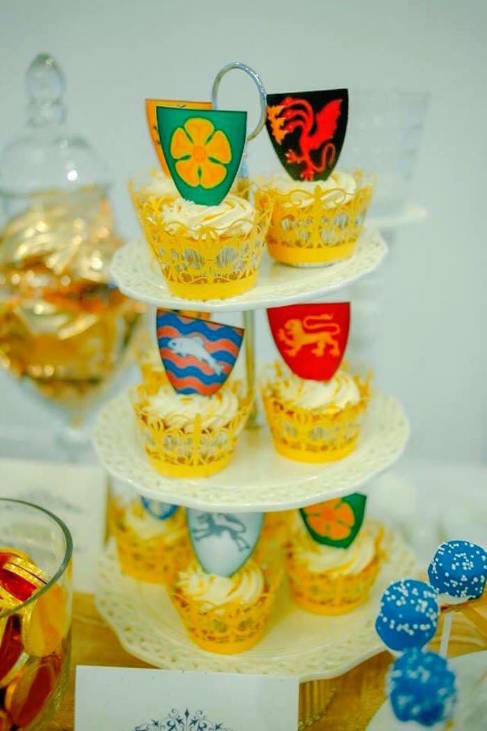 Cupcakes from a Game of Thrones Birthday Party via Kara's Party Ideas | KarasPartyIdeas.com (12)