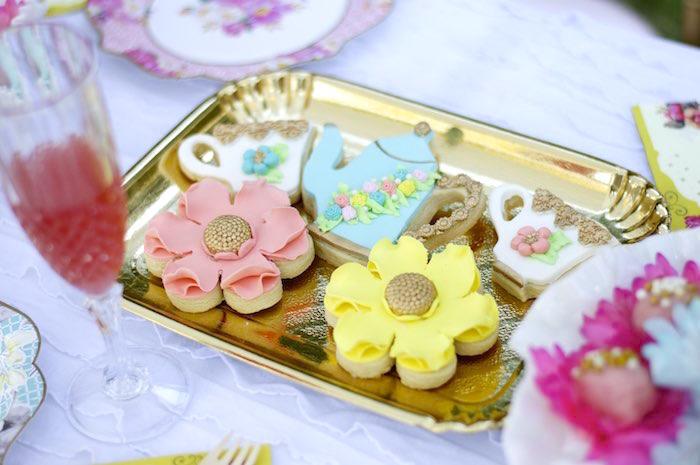 Cookies from a Garden Party Baby Shower via Kara's Party Ideas KarasPartyIdeas.com (24)