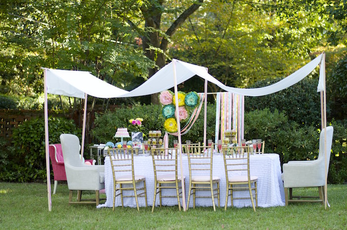 partyscape from a garden party baby shower via karas party ideas karaspartyideascom 37