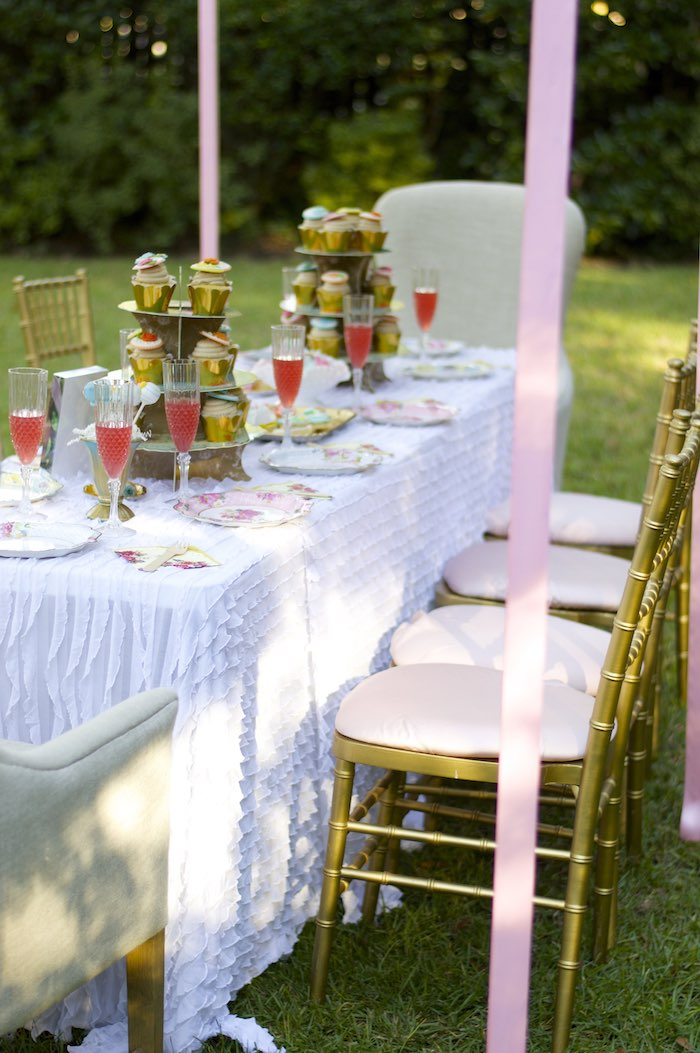 Dining Table from a Garden Party Baby Shower via Kara's Party Ideas KarasPartyIdeas.com (16)