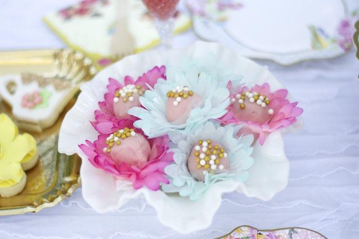 Cake Balls from a Garden Party Baby Shower via Kara's Party Ideas KarasPartyIdeas.com (14)