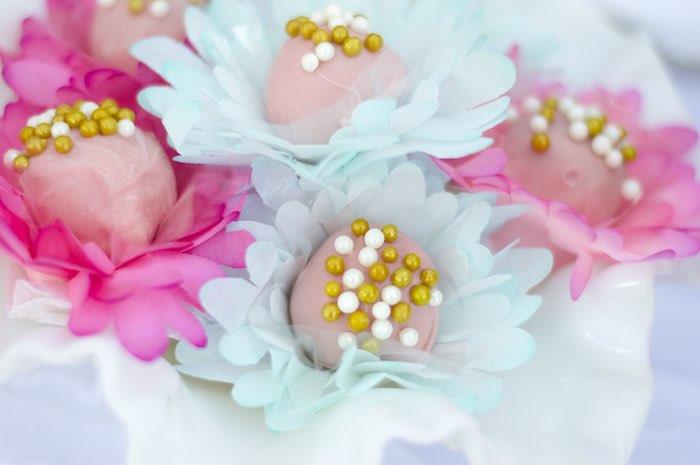 Cake Balls from a Garden Party Baby Shower via Kara's Party Ideas KarasPartyIdeas.com (13)