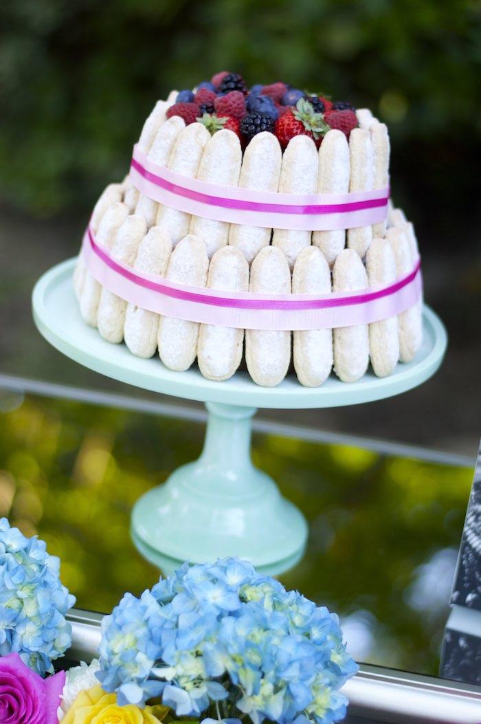 Cake from a Garden Party Baby Shower via Kara's Party Ideas KarasPartyIdeas.com (9)