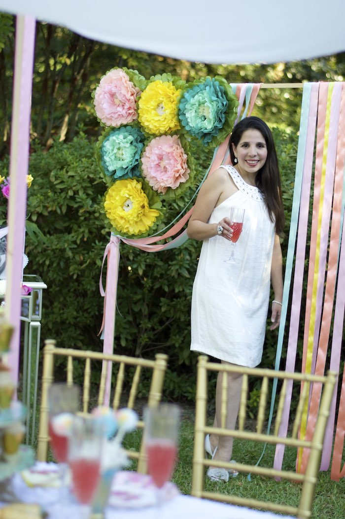 Photo Backdrop from a Garden Party Baby Shower via Kara's Party Ideas KarasPartyIdeas.com (8)