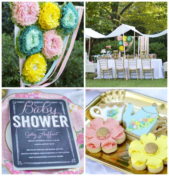 Garden Party Baby Shower via Kara's Party Ideas KarasPartyIdeas.com (2)