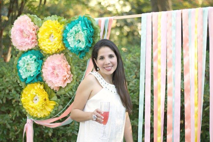 Photo Op from a Garden Party Baby Shower via Kara's Party Ideas KarasPartyIdeas.com (35)