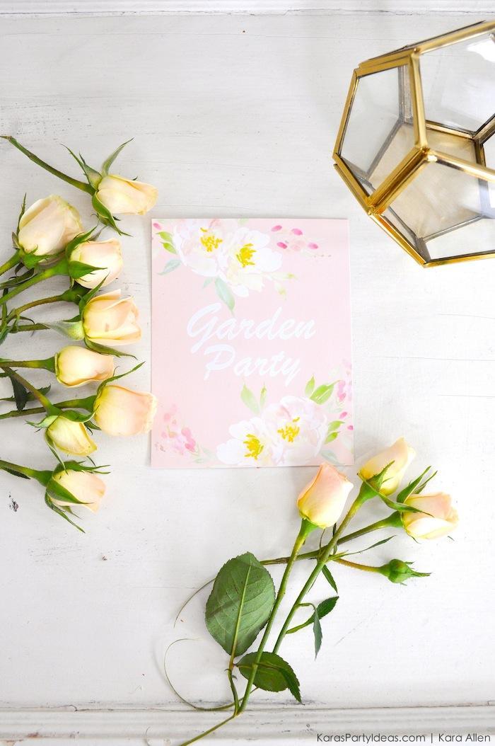 Garden Party via Kara's Party Ideas with FREE Printable! KarasPartyIdeas.com and Canon #CraftyWithCanon