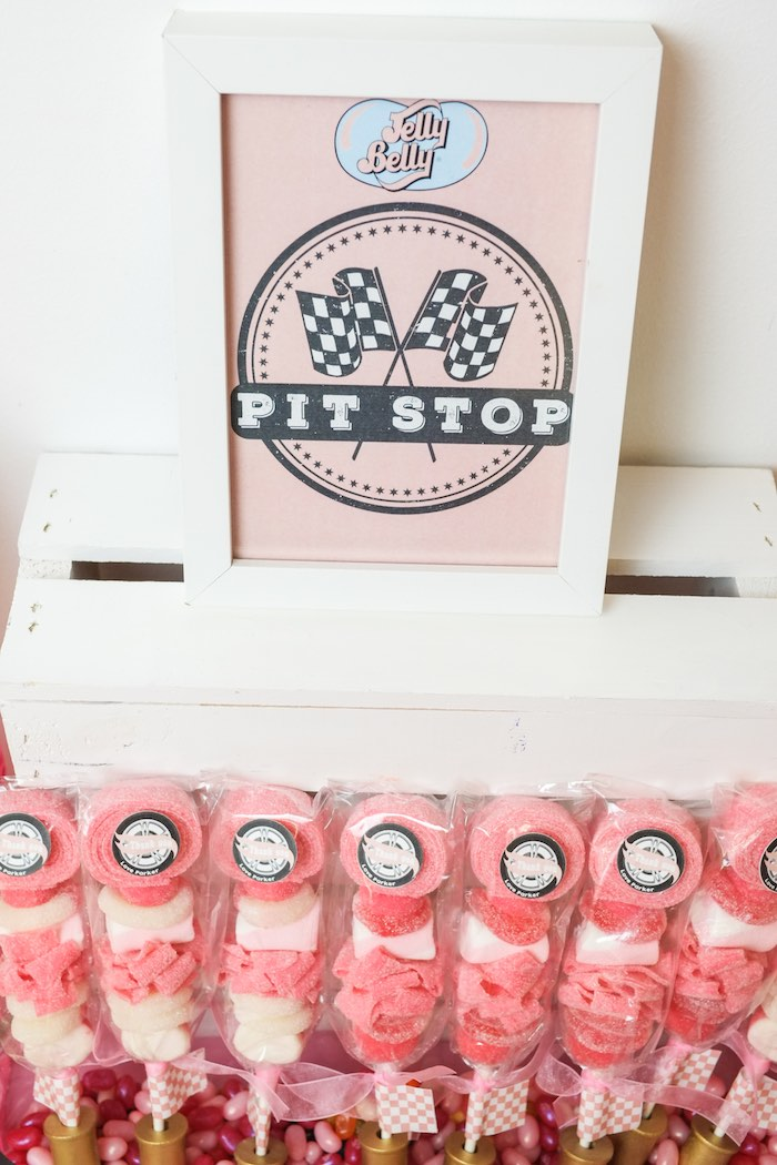 Pit Stop Candy Kabobs from a Girly Race Car Birthday Party via Kara's Party Ideas | KarasPartyIdeas.com (26)