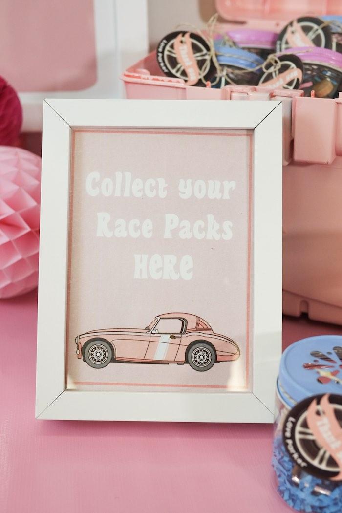 Sign + Stationery from a Girly Race Car Birthday Party via Kara's Party Ideas | KarasPartyIdeas.com (23)