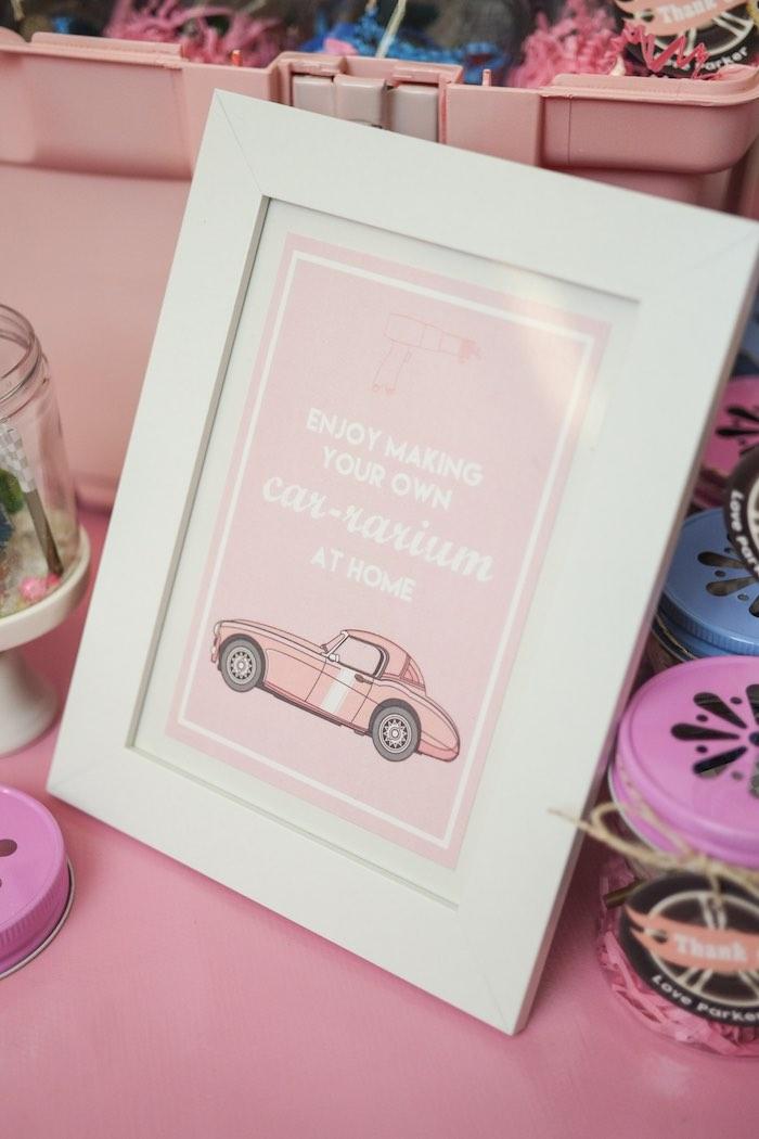 Stationery Sign from a Girly Race Car Birthday Party via Kara's Party Ideas | KarasPartyIdeas.com (20)