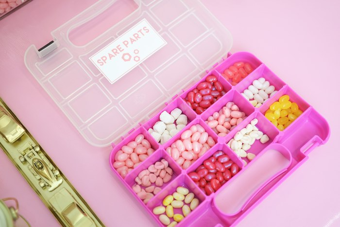 Jelly Belly Spare Parts from a Girly Race Car Birthday Party via Kara's Party Ideas | KarasPartyIdeas.com (18)