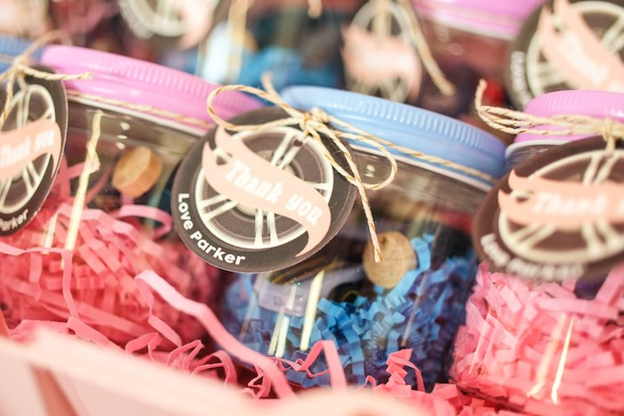 Favor Jar from a Girly Race Car Birthday Party via Kara's Party Ideas | KarasPartyIdeas.com (17)