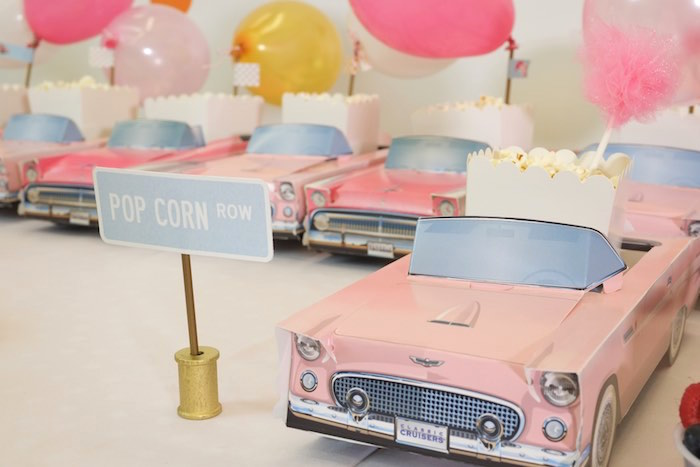 Popcorn Row from a Girly Race Car Birthday Party via Kara's Party Ideas | KarasPartyIdeas.com (6)