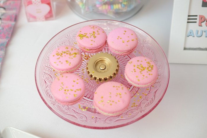 Macarons from a Girly Race Car Birthday Party via Kara's Party Ideas | KarasPartyIdeas.com (32)